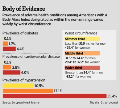 waist circumference predicts disease risk